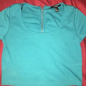 Turquoise crop top, worn twice.